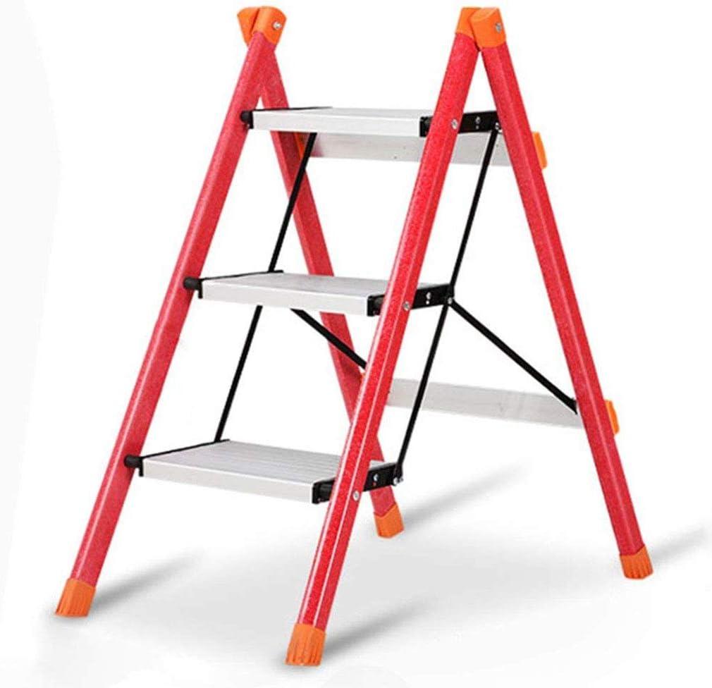 Driverder Taburete Plegable Ligero Portátil del Paso Escalera Escalera de 3 peldaños Escalera para el hogar Escalera de Tres escalones Escalera de Tres Pasos Taburete de aleación de Aluminio Portátil: Amazon.es: Hogar