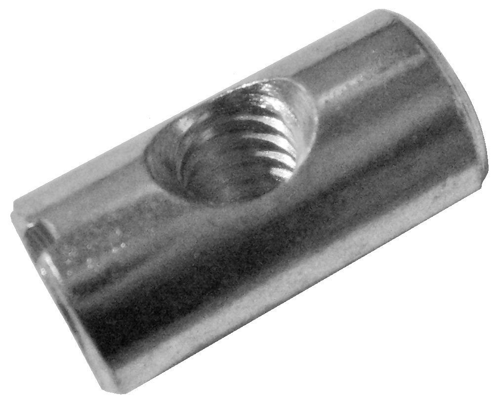 25 1//4-20 20mm X 10mm Zinc-Plated CNC Cross Dowels//Barrel Nuts