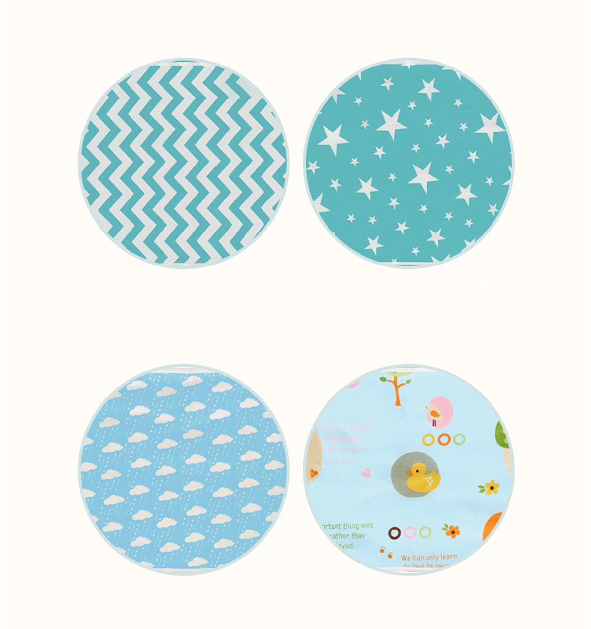 KIDSONE Portable Baby Diaper Changing Pad A, 35x45cm Breathable Waterproof Underpads Changing Mat for Baby Boys Girls