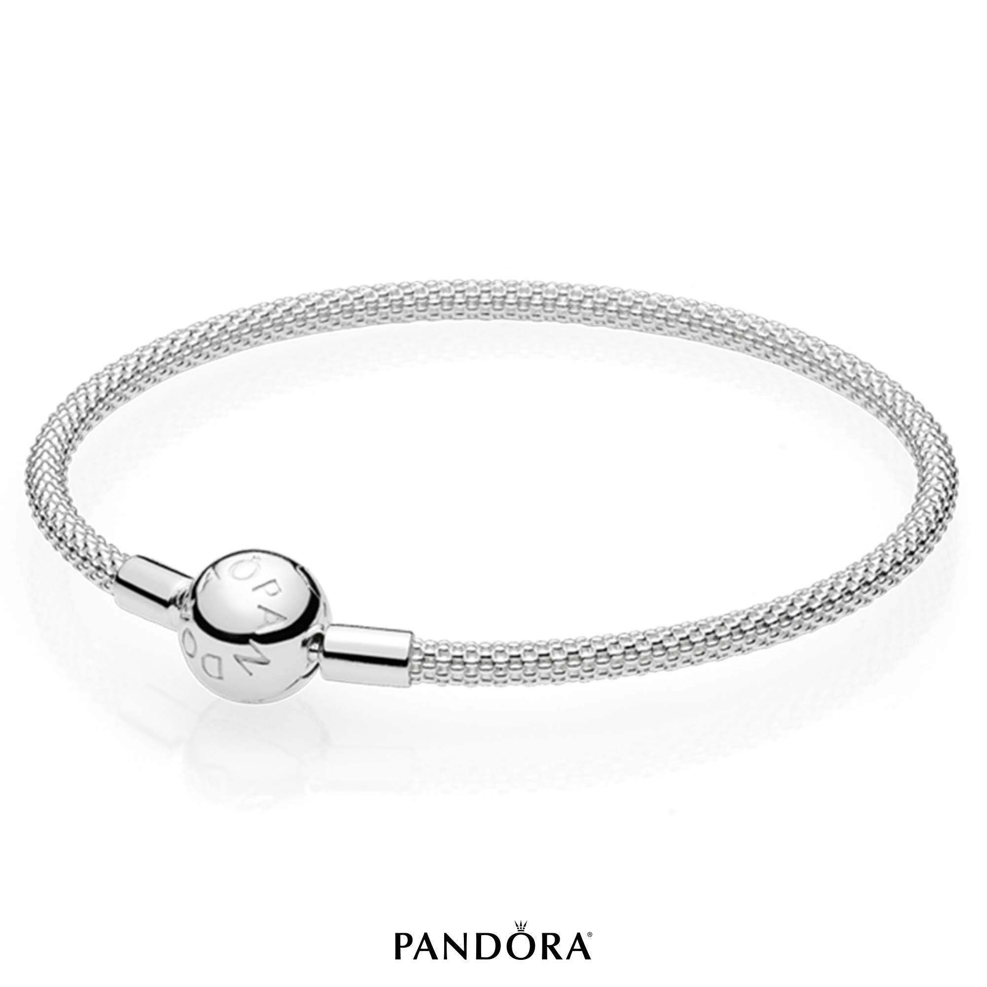 PANDORA Sterling Silver Mesh Bracelet, 7.5 IN by PANDORA