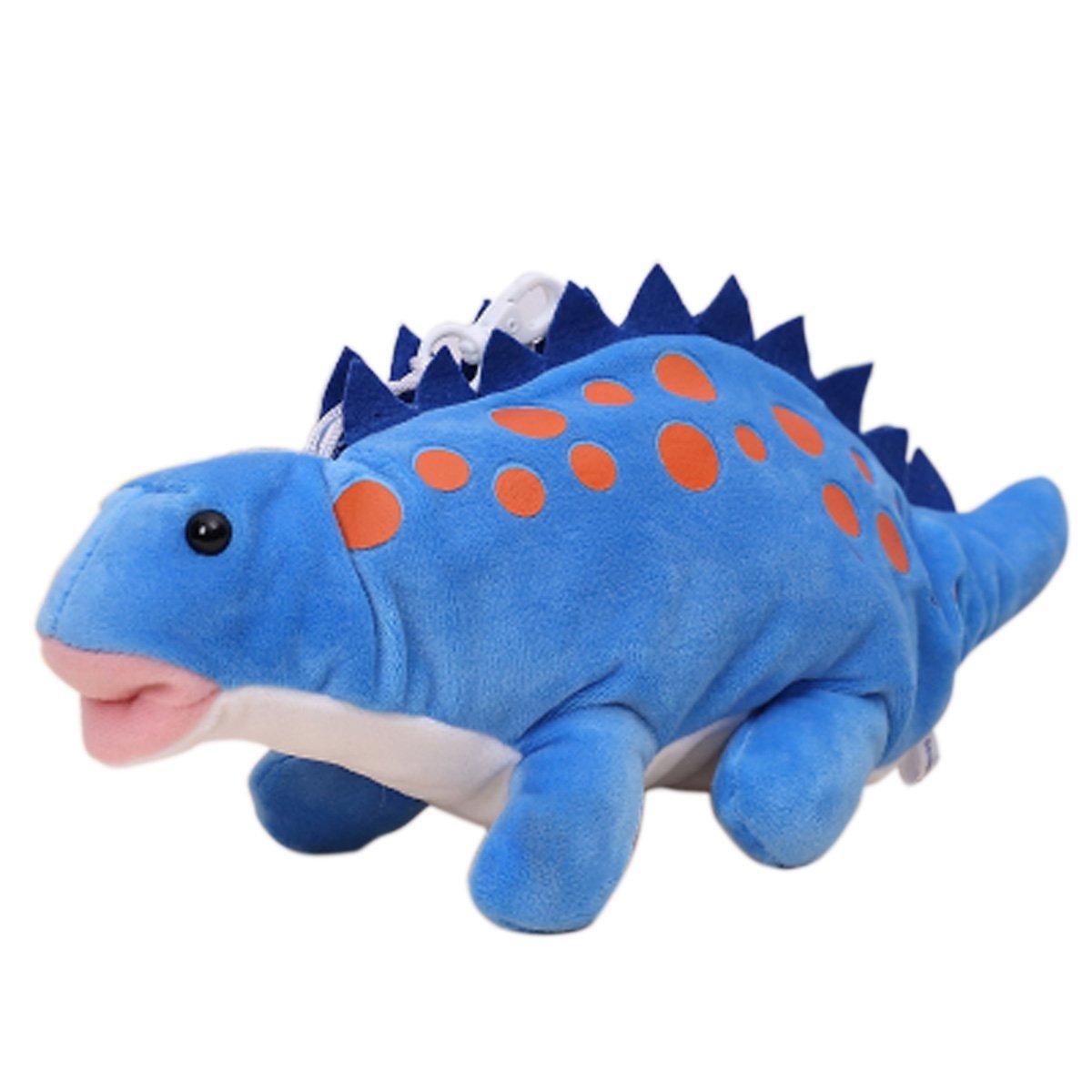 Mily Kid's Cute Soft Plush Toys Pencil Case Pencil Holder Pen Case for School Children Students (Blue Dinosaur)