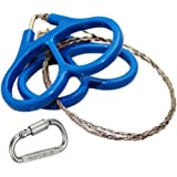 USUNO Mini Stainless Steel Pocket Wire Saw - Emergency Camping Chain Saw - Survival Tool with Finger Handles and an Aluminum D Ring Lock for Camping, Hiking and Hunting.