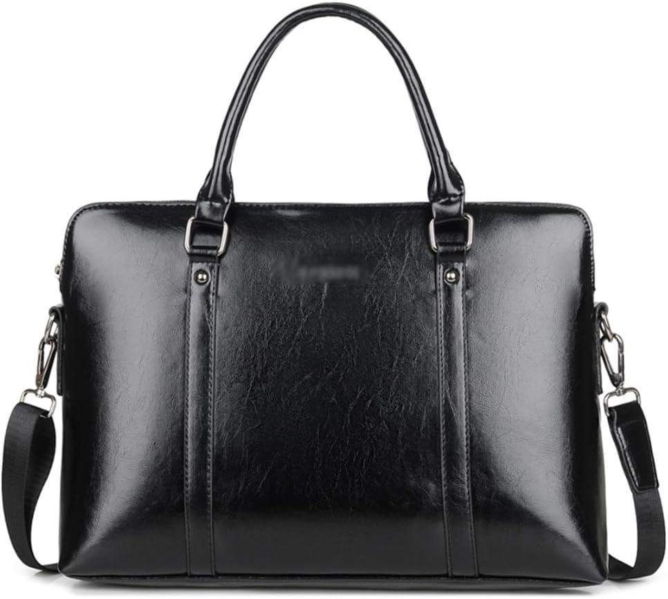 GUODLIN Unisex Cortex Handbag Notebook Bag Computer Bag Female 13//14//15 inch Black//Brown//Red Color : Black, Size : 15inch