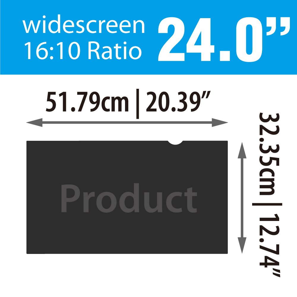 20.39 x 12.74//517.9 x 323.5mm Sceptre// Samsung// HP// LG// Acer// ASUS// Dell// Benq// AOC// ViewSonic /& PC SenseAGE Anti-Blue Light Privacy Screen Protector Filter for Widescreen Monitor 24 inch 16:10
