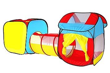 Tienda Campaña Infantil Carpa Plegable Tunel Infantil Pop Up Casitas Para Niños Carpa Jardin Playa Camping House Interior Exterior Tunel Regalos Cumpleaños ...