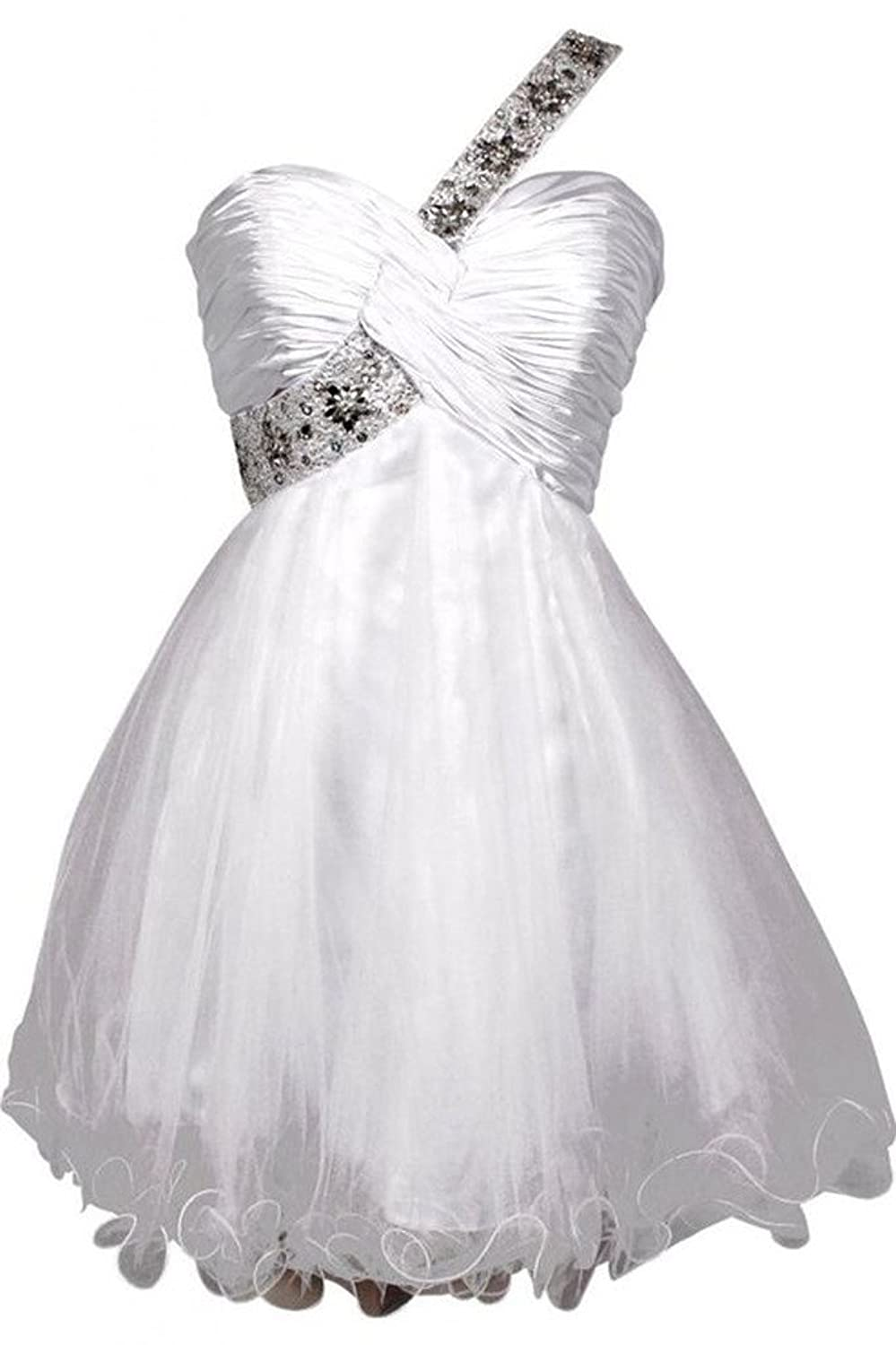 Snowskite Girl's One shoulder Lovely Princess Homecoming Dance Party Prom Dress