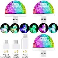 LED Luces Discoteca Giratoria,Bola LED de Discoteca,Disco Luz