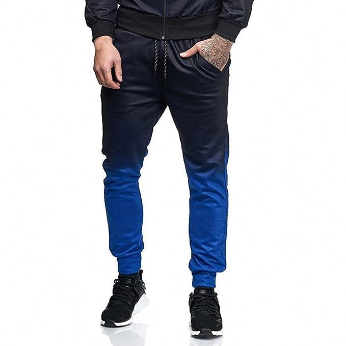 Pantalones Hombre Casuales Pantalones Deportivos con Bolsillos elásticos Pantalones cordón de Apretados Jogger tamaño M-