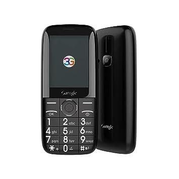 """Samgle Zoey Teléfono móvil Libre de 2.4"""", Móviles de Teclas Grandes (3G,"""