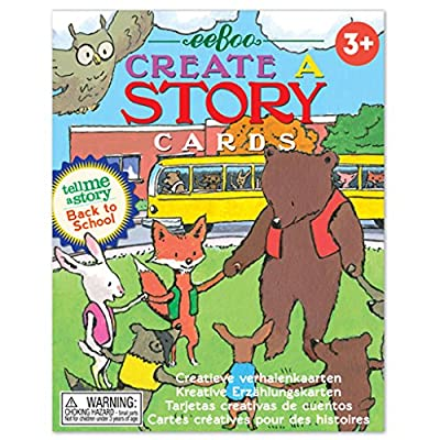 eeBoo Create and Tell Me A Story Cards, Back to School: Toys & Games