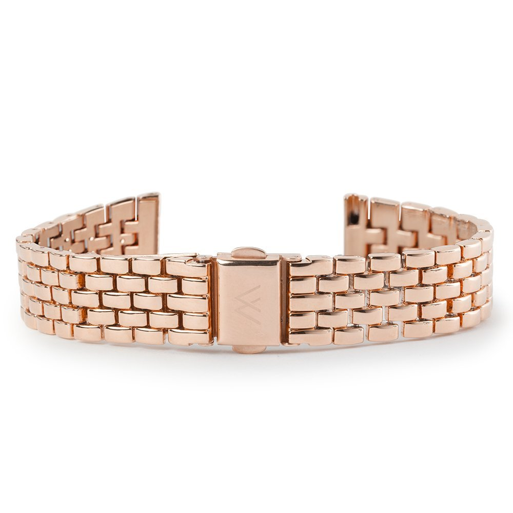 Wristology Quick Release Rose Gold Metal Little Link Easy Change Band Strap 18mm by Wristology