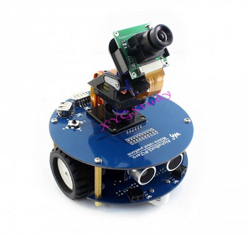 Hot AlphaBot2 Robot Building Starter Kit Accessory Pack for Raspberry Pi Zero/Zero W with Ultrasonic sensor SD Card Camera IR Controller (No PiZero) @XYGStudy