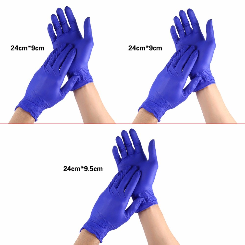 Laz Tipa - 100pcs/box Nitrile Disposable Gloves Purple Non Latex Home Kitchen Cleaning Gloves S M L Size (S) by Laz Tipa (Image #3)