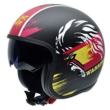 NZI 050309G813 Rolling Ultimate Warrior Street by Superstars WWE, Casco de Moto, Talla 60