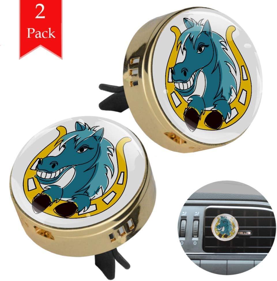Caballo Azul De Dibujos Animados Mini Aromaterapia Difusor De Aceite Esencial Para Coche Desodorante Ambientador Para Oficina En Casa 34x46.5mm