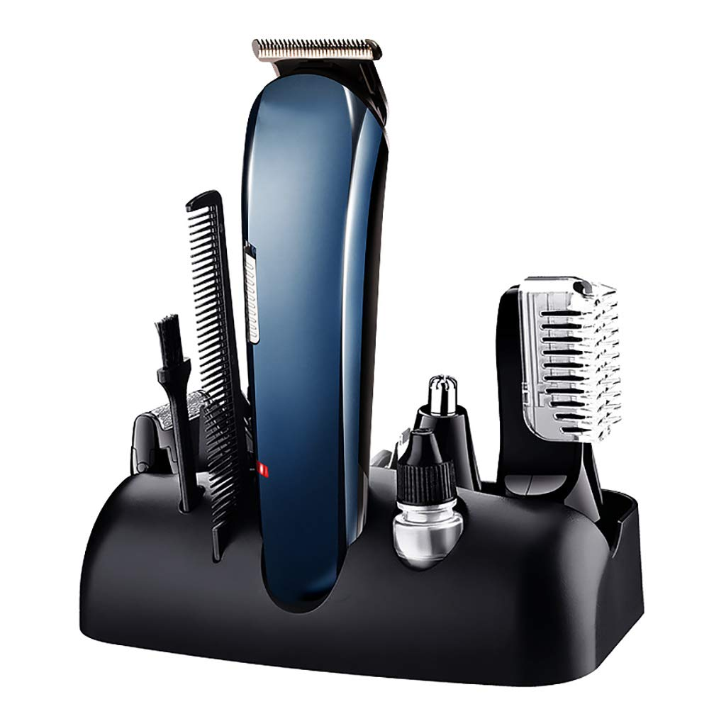 AMhuui Multi-Function Home Use Adult Hair Clipper Set Rechargeable Shaving Nose Hair Electric Shaver Men's Hair Trimmer