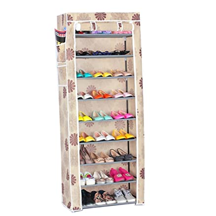 Evana 2 Feet Wide 5 10 Tall Nine Layer Shoe Rack Collapsible