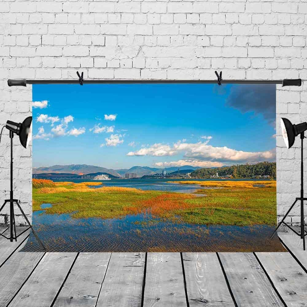 CdHBH 7x5ft Backdrop Bishui Yuntians Magical Natural Beauty Photography Backdrop Photo Photography Background Props Studio Indoor Decorations LYXC222