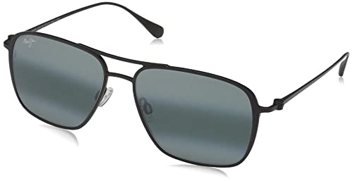 cfcf5cec07c5 Maui Jim Sunglasses | Beaches 541-2M | Matte Black Aviator Frame, Polarized  Neutral