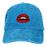 Sexy Lip Adult Cowboy Hat Baseball Cap Adjustable Athletic Make Custom Hat for Men and Women