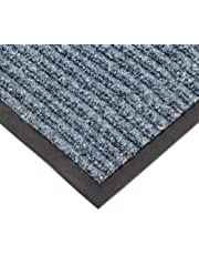 """NoTrax T39 Bristol Ridge Scraper Carpet Mat, for Wet and Dry Areas, 3' Width x 5' Length x 3/8"""" Thickness, Slate Blue"""