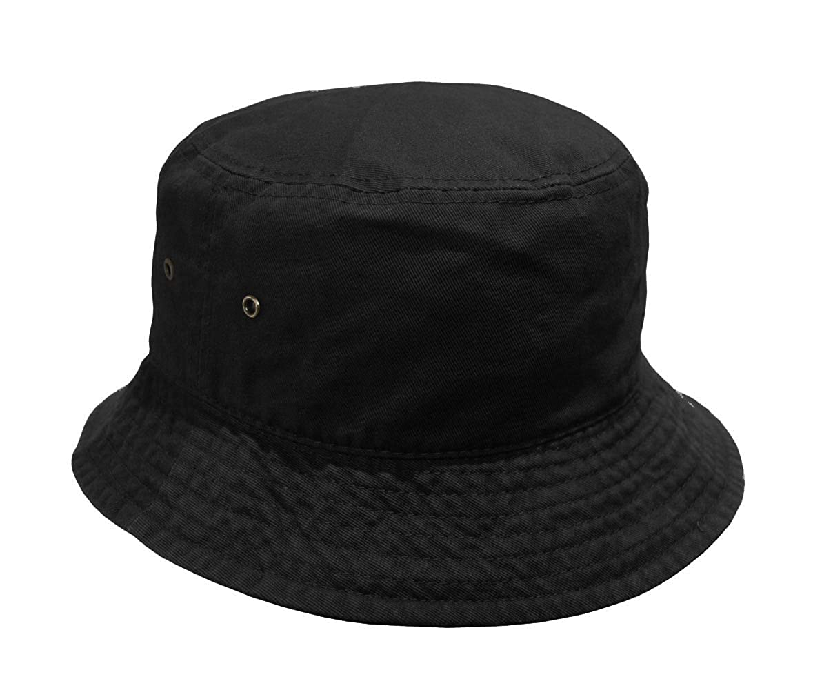 f57a93e5d1327e Newhattan Short Brim Visor Cotton Bucket Sun Hat at Amazon Women's Clothing  store: