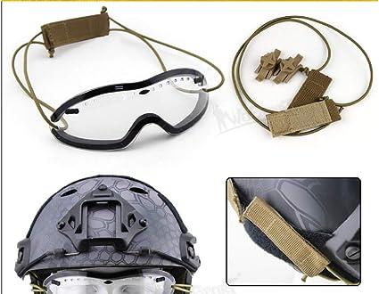 Smith Optics Airsoft Paintball Ciclismo regulador Gocher Gafas t/ácticas para Casco antiniebla