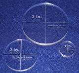 Circle Template 3 Piece Set.1'',2'',3'' - Clear 1/4'' Thick