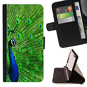 Dragon Case- Wallet Case Folio Flip Leather Case Cover Protective Shell FOR Apple iPhone 6 6S 4.7 6S Plus 5.5- Peacock Feather