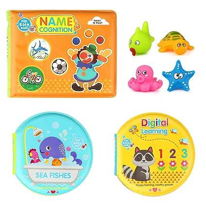 6pcs/ Set Interesting Baby Bath Toys Series Gift For Infant Babys Cute Colorful Boat Shape Baby Bathing Educational Toys Set Bath Toy