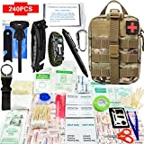 240piece Outdoors Survival First Aid Kit IFAK Molle System Compatible Outdoor Gear Emergency