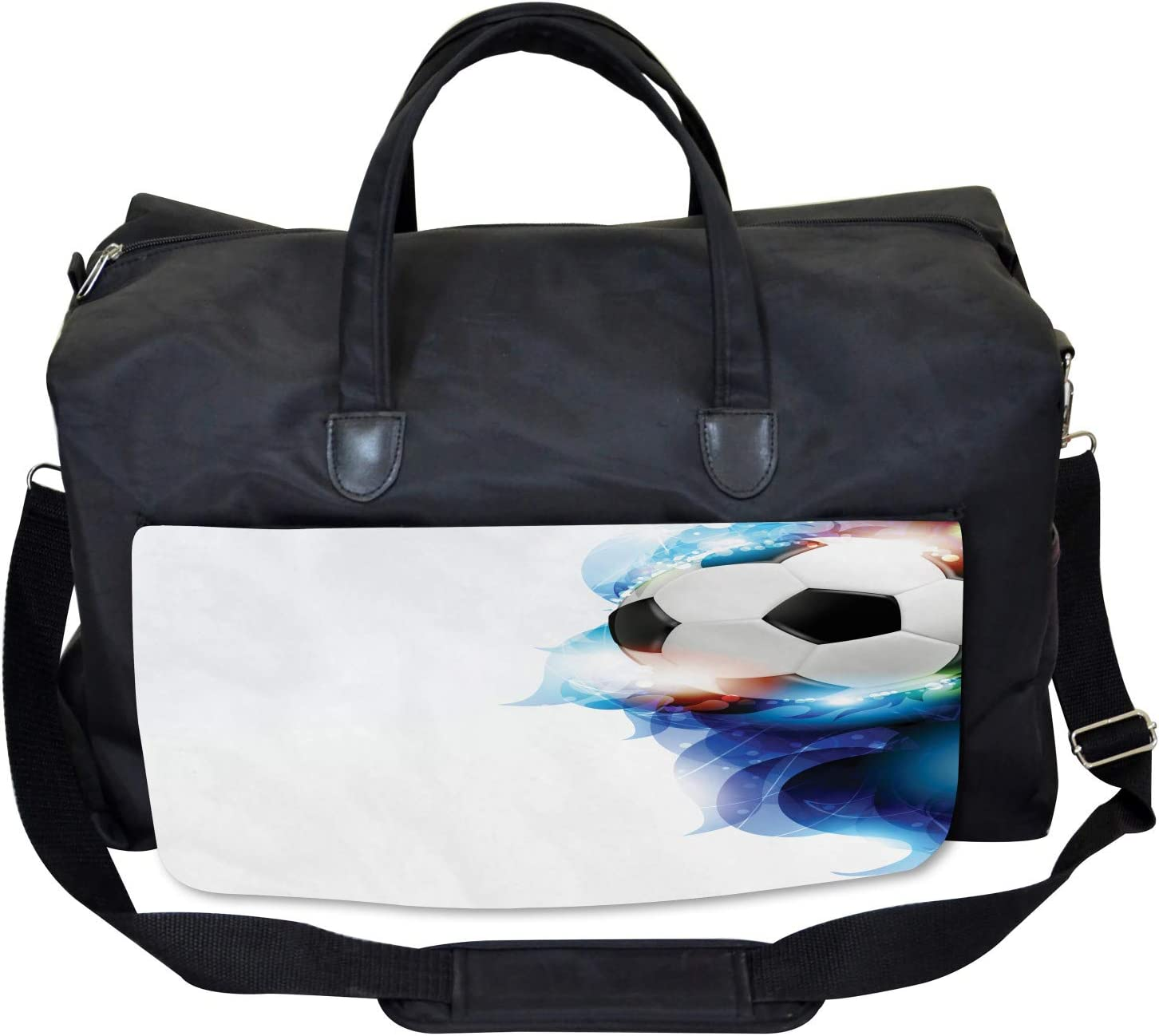 Ball Graphic Game Sports Large Weekender Carry-on Ambesonne Soccer Gym Bag