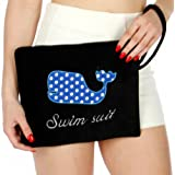 Knitting Factory Water Proof Cotton Towel Wet Bikini Bag Whale Selection