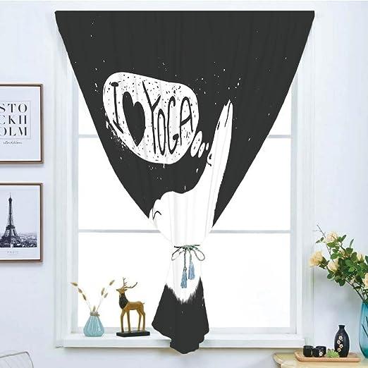 Cortina de ventana opaca, pegatinas mágicas para cortina ...