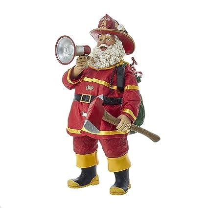 kurt adler 11 fabriche fireman santa