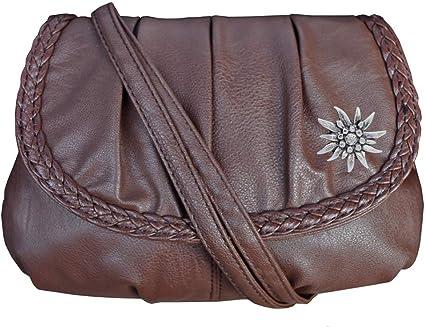 Handtasche Rucksack Shopper Schultertasche Tasche Trachtentasche Leder Braun