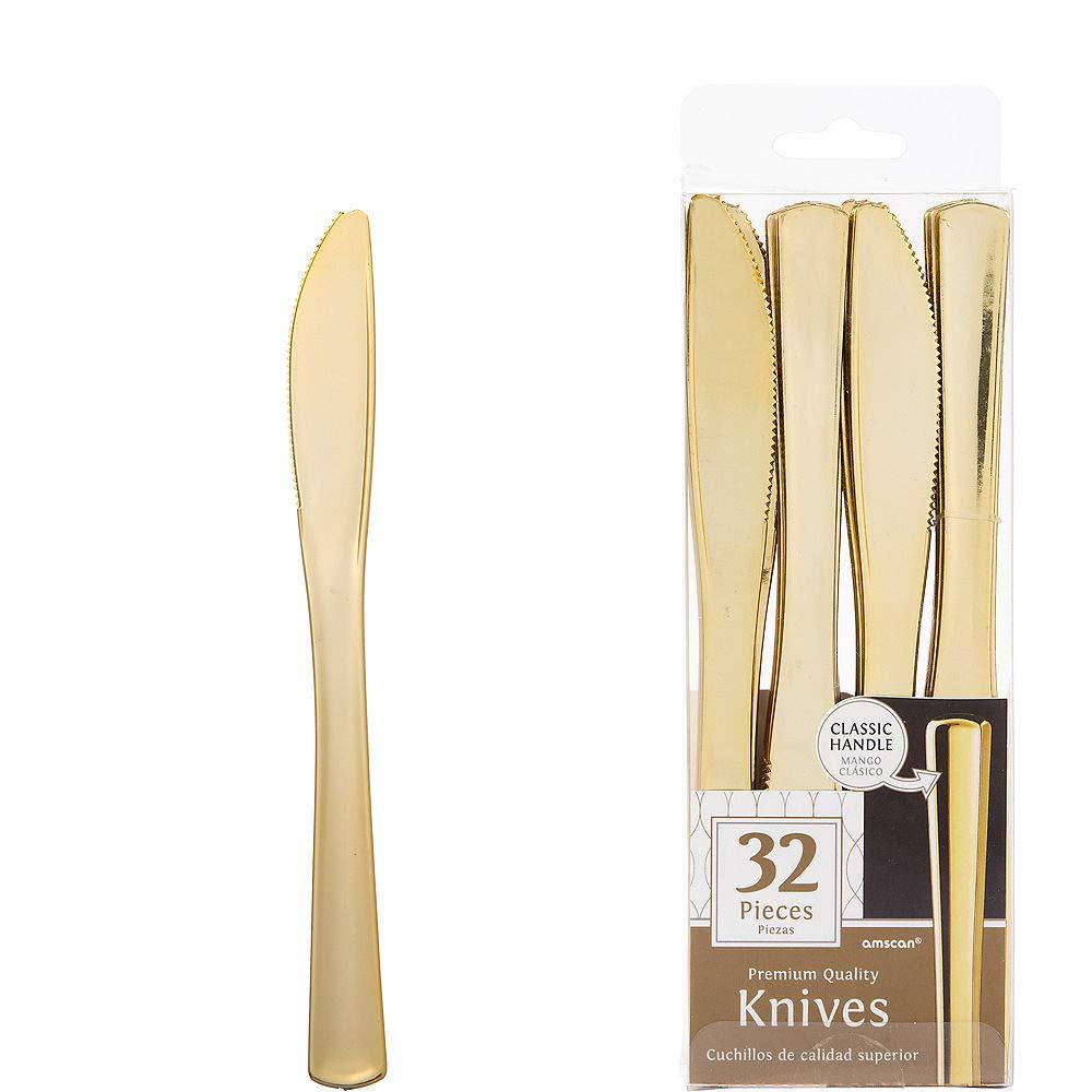 Amazon.com: HollyDel Gold Premium Plastic Knives 32ct ...
