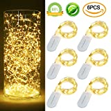 Starry String Lights CR2032, Pack of 6 Sets, 7.2Ft(2.2m)/20LEDs, Warm Light