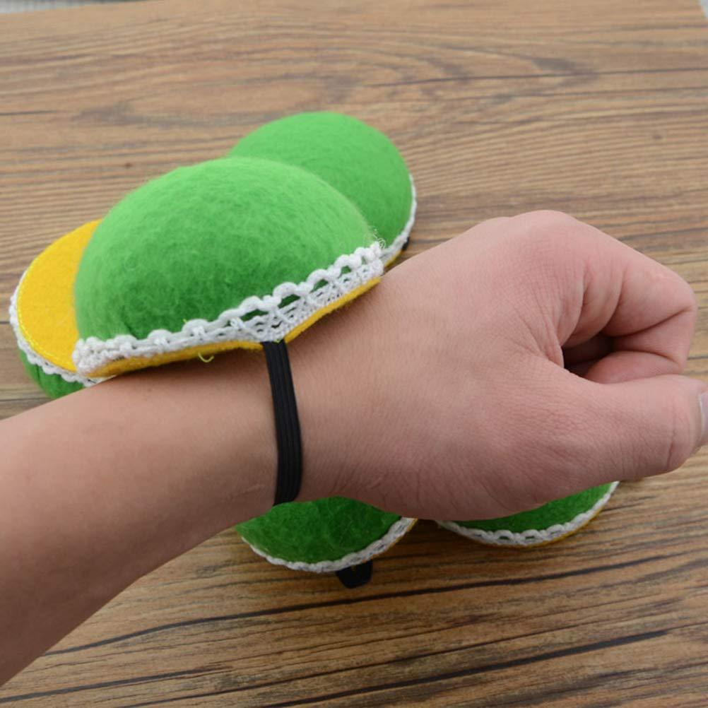 Verde Healifty Cuscino per Polsi da Polso da 2 Pezzi Cuscino da Polso Cinturino Pin Cuscini Porta Aghi indossabili per Cucito Needlework