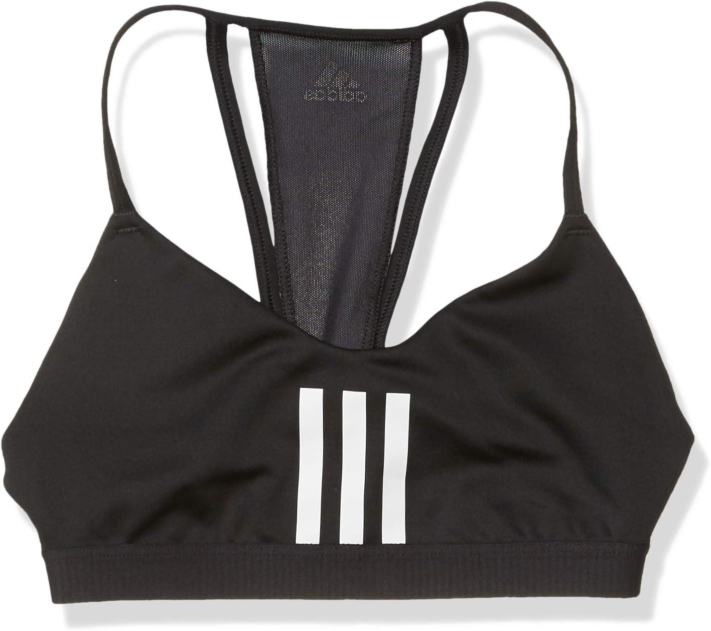 adidas Women's All Me 3-Stripes Mesh AEROREADY Training Pilates Yoga Workout Bra
