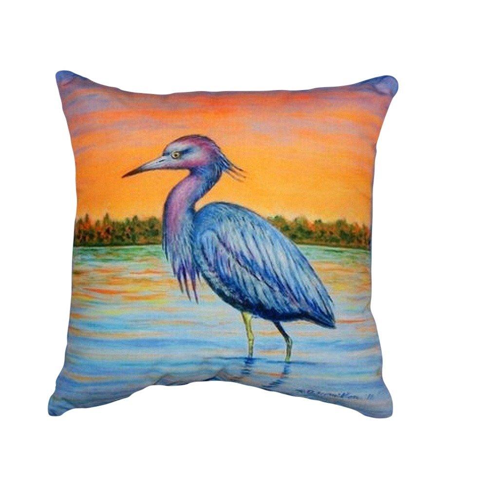Betsy Drake NC493 Heron /& Sunset No Cord Pillow 18 x18
