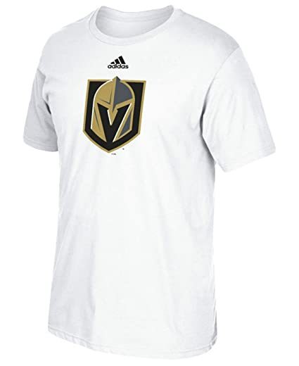 size 40 628a8 cd3c2 adidas Las Vegas Golden Knights Men's White Primary Logo T-shirt