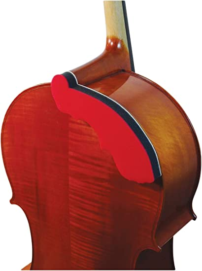 Fits 3//4 and Full Size Cellos NEW AcoustaGrip QUARTET CELLIST Cello Chest Rest /& Improved 2019 Model