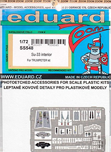 エデュアルド 1/72 ZOOM Su-33 内装パーツセット トランペッター用 エッチングパーツ EDUSS548
