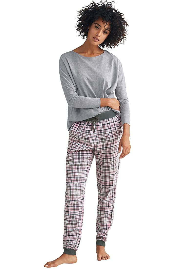 Ellos Women's Plus Size Plaid Flannel Sleep Pants
