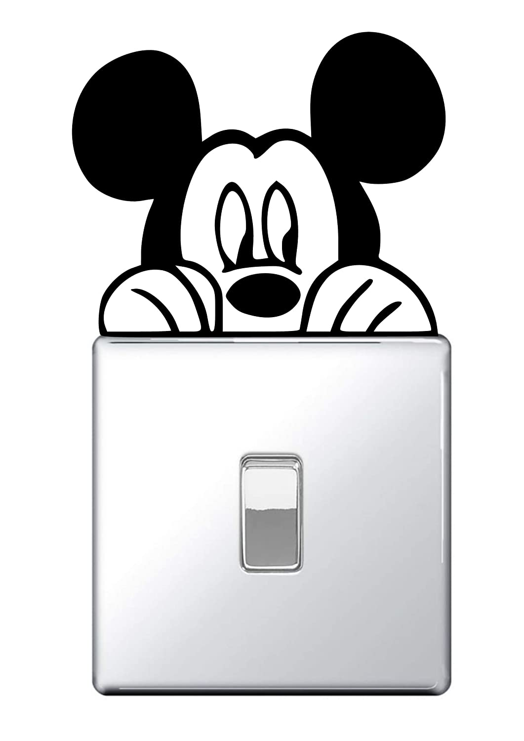 Mickey Mouse Light switch Wall Sticker Vinyl Decal Minnie Funny Boys Kids (Black) #1 Pro Cut Graphics