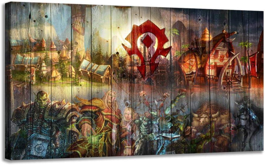baodanla Sin Marco Arte Moderno de la Pared Pintura al óleo World of Warcraft Juego de animación Decoración del hogar Pintura al óleo KK 60X90CM: Amazon.es: Hogar