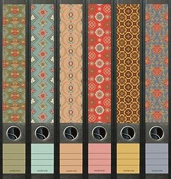 Archivadores Pattern patrón carpeta carpeta vinilo decorativo adhesivo 607: Amazon.es: Oficina y papelería