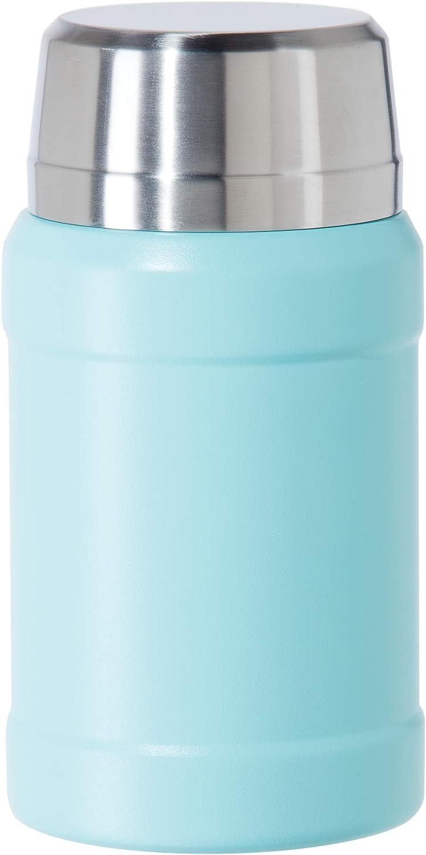 OGGI BaseCamp Stainless Steel Food Thermos- Insulated Thermos, Soup Thermos, Thermos with Spoon, Food Jars, 27oz, Blue Sky