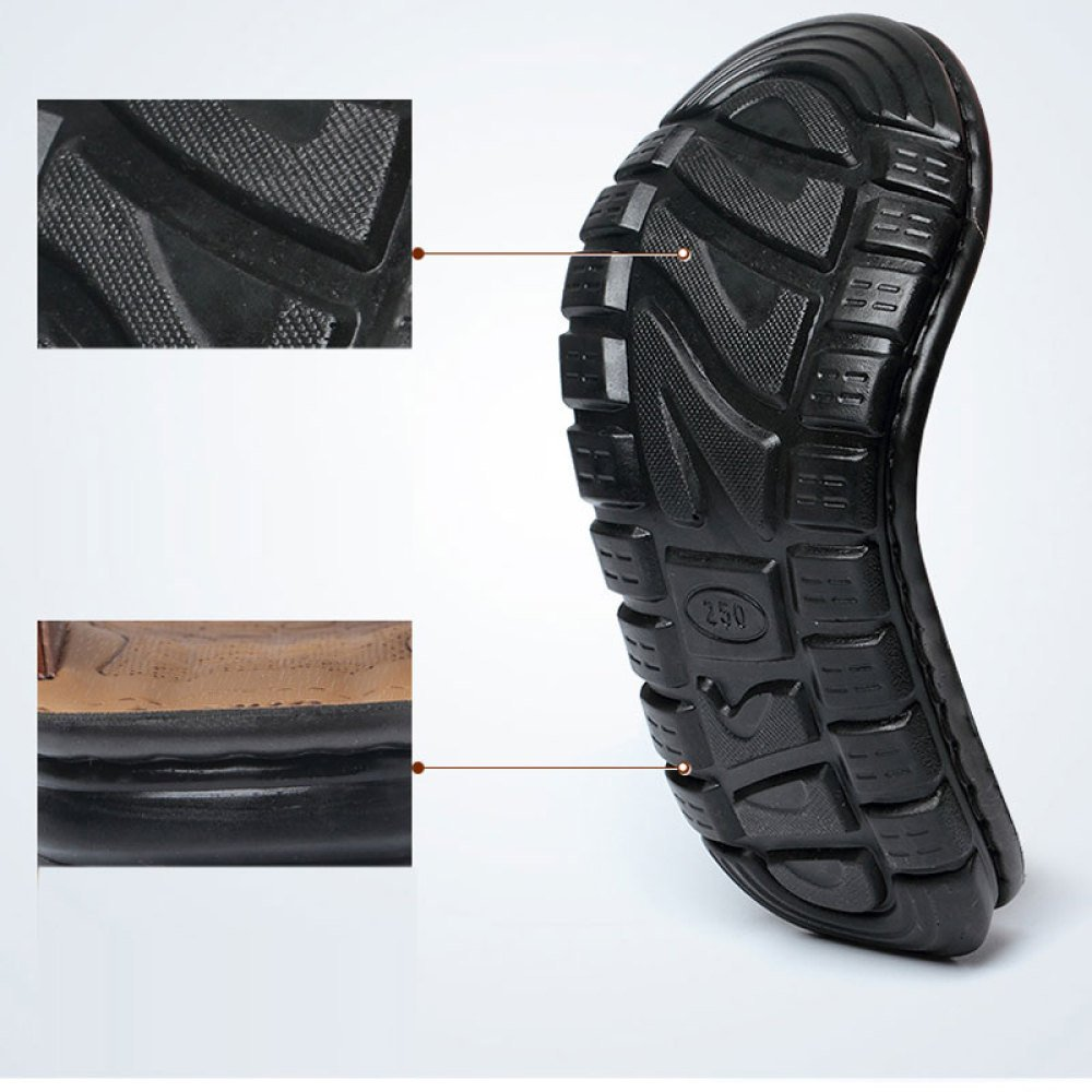 Männer Pool Sandalen Leder Peep Toe Softsoles Sandy Beach Sandalen Bad Sommer Casual Outdoor Schwimmen Bad Sandalen Schuhe schwarz 891578